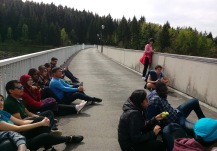 EM42 participants during outdoor lecture at Saidenbach reservoir (Joseph Makau)
